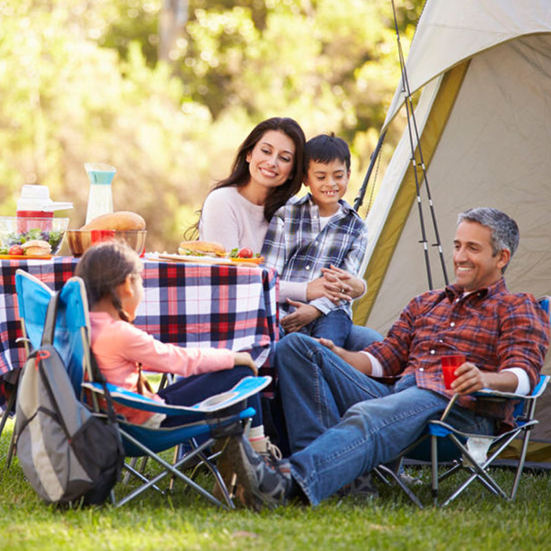 family camping holiday